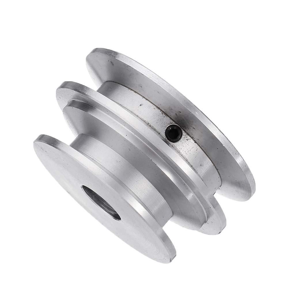 RanDal Aleaci/ón De Aluminio De Doble Surco 60 Y 50Mm Polea Rueda 8-20Mm Polea De Di/ámetro Fijo Para Eje Del Motor Correa De 10Mm 8Mm
