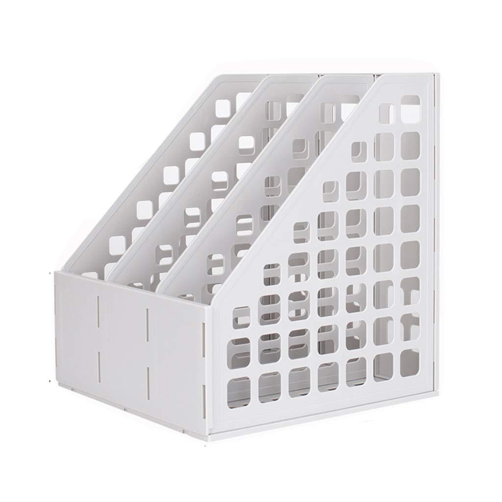 Drei Gitter Aktenhalter Desktop Datengestell Finishing Box Lagerregal Bürobedarf Dicker Kunststoff Hohe Kapazität (Farbe    3) B07MV6SGQ7 | Tadellos