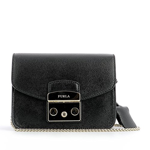 Furla Woman Bep0bgz7are00z060 Black Leather Shoulder Bag