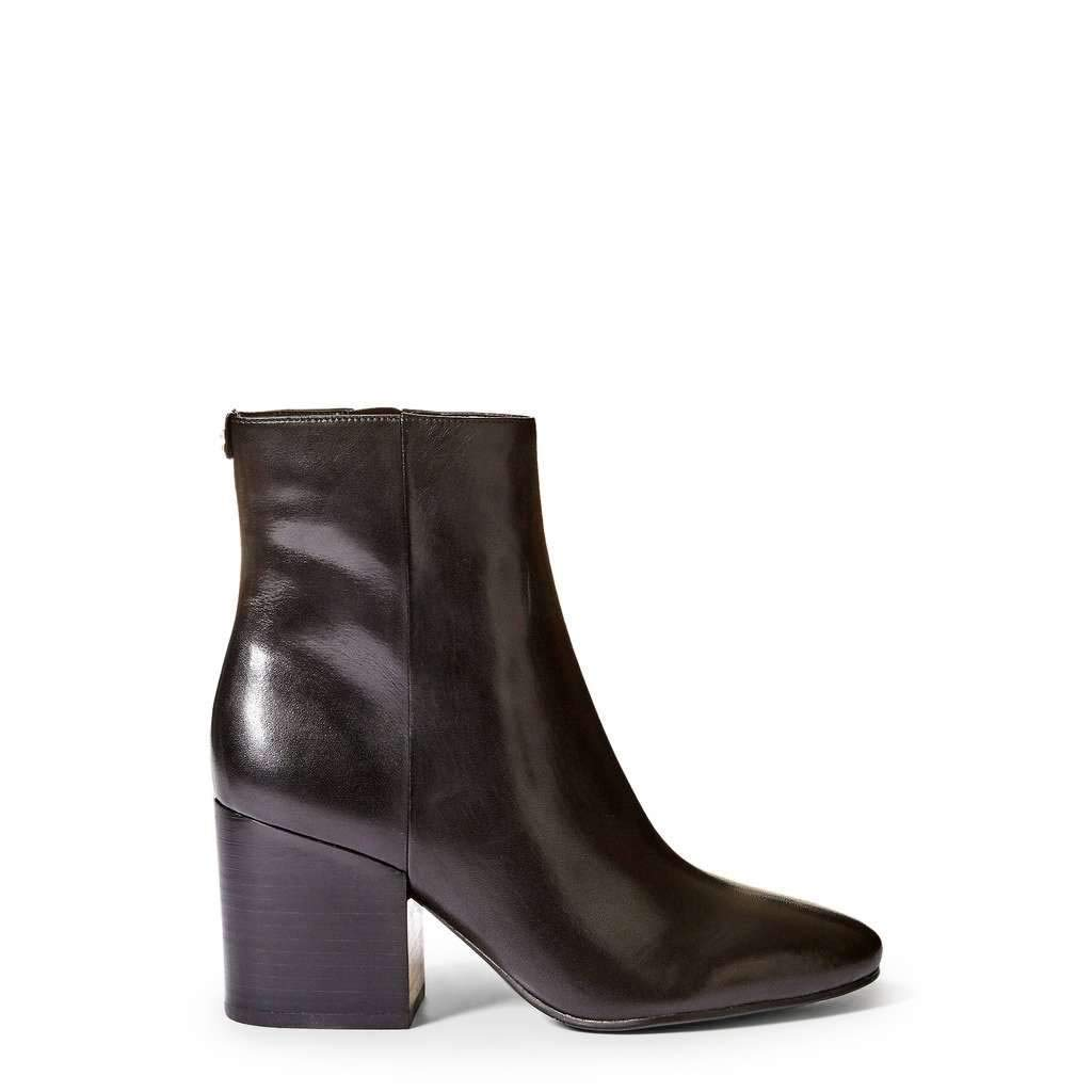 schwarz Guess Woherren Leather Ankle Stiefel, FLOLE4LEA10_schwarz