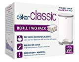 Baby : Dekor Classic Diaper Pail Refills | Most Economical Refill System | Quick & Easy to Replace | No Preset Bag Size – Use Only What You Need | Exclusive End-of-Liner Marking | Baby Powder Scent | 2 Count