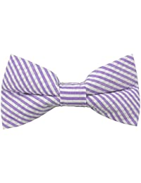 Boys' Prep Pre-Tied Adjustable Seersucker Banded Bow Tie