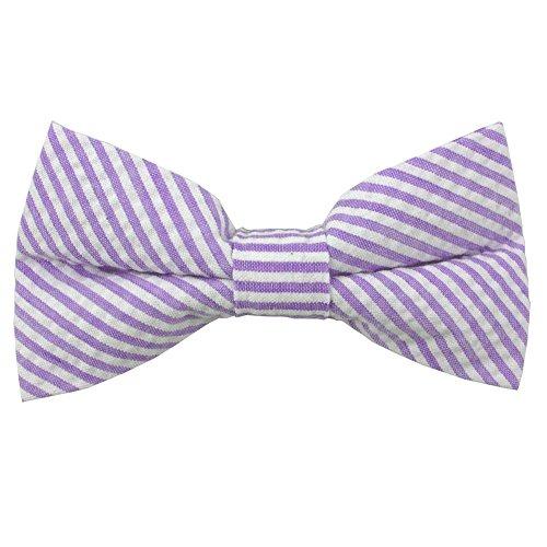 Jacob Alexander Men's Seersucker Self-Tie Bow Tie - Lavender