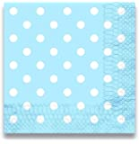 "LolliZ Luncheon Napkins, 12 Pcs Polka Dots Blue, 13"" X 13"" 2-Ply"