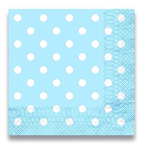 Culina 50405 Lolliz Luncheon Napkins 12 Pcs Polka Dots Blue (Dots Luncheon Napkins)