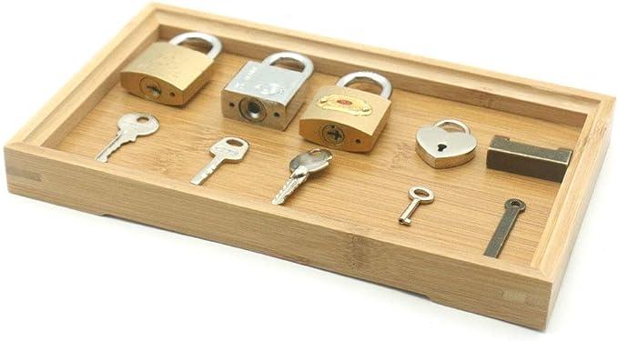 Amazon.com: Zozu Wooden Montessori Tray Locks Set Educational Sensory Toys For Children Montessori Preschool Sensorial Materials Juguetes ML1344H (5 locks bamboo tray): Kitchen & Dining