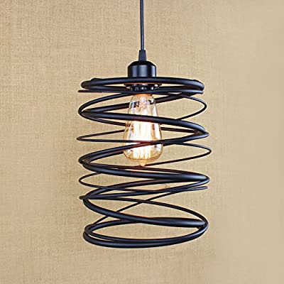 Kiven Industrial Vintage Weathered Pendant cage Light Victorian Lampshade Modern Lighting