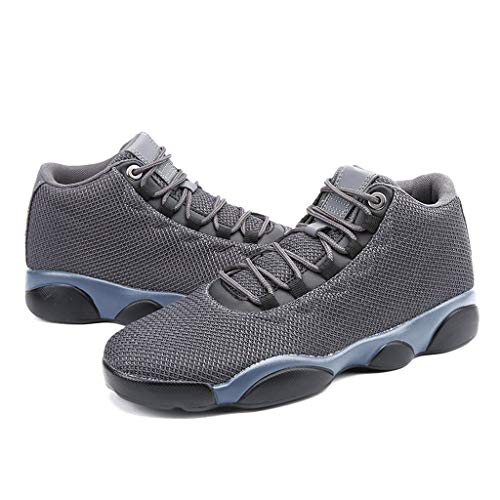 Running Basketball Shoe,Men Net Surface Flat Non-Slip Breathable Lightweight Youth Sports Sneakers Gym Training Shoes Gray by Hotcl (Image #5)