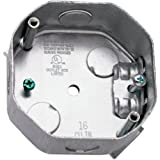 Hubbell-Raco 296 1-1/2-Inch Deep 1/2-Inch Side Knockouts 4-Inch Octagon Ceiling Fan Support Box