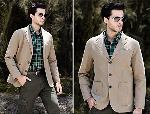 Légère Outdoor Manteau Survêtement Denim Dhyzz Blouson Veste Classique Costume Kaki Hommes Printemps Automne Coton Blazer xwn4XvH