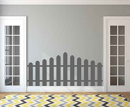 Picket Fence Silhouette Faux Headboard Vinyl Wall Decal Sticker Graphic