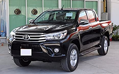 Amazon.com: Matte Black Front Grill Trd Style with Nuts for Toyota Hilux Revo Sr5 M70 M80 2015+: Automotive