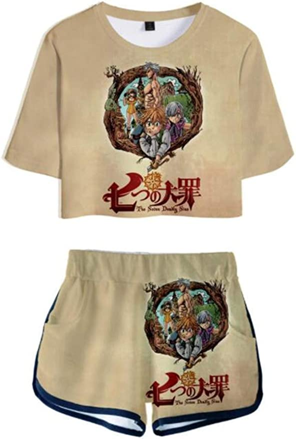 Anime Seven Deadly Sins Season 3 3D Print T-Shirt Women//Mens Casual Short Sleeve