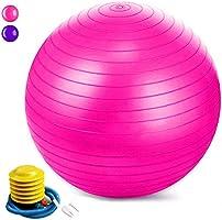 Jasonwell Pelota Pilates Pelota de Resistencia estática con Bomba para Ejercicios de Estabilidad Ejercicio y Bola de...