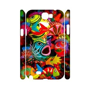 Colorful fish 3D-Printed ZLB608395 DIY 3D Phone Case for Samsung Galaxy Note 2 N7100