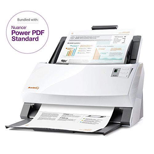 Ambir ImageScan Pro 940-NP 40ppm High-Speed Document Scanner with Full Version of Nuance Power PDF Software (DS940-NP) by Ambir