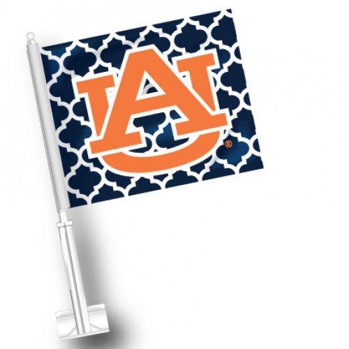 (NCAA Auburn Tigers Quatre Foil Car Flags Set of 2)