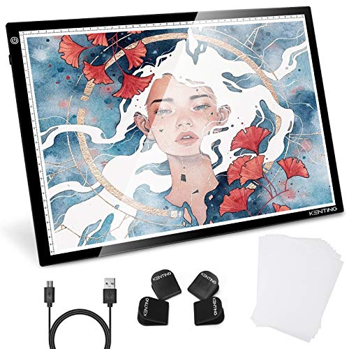 KENTING KA3 Light Box LED Artcraft Tracing Light Pad USB Power Cable Dimmable Brightness Tatoo Pad Copy Board Aniamtion Sketching Designing Stencilling X-ray Viewing Diamond Painting