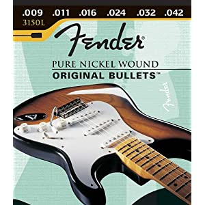 Fender 150 Nickel Wound Original Bullets Electric Guitar Strings09-46