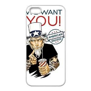 Uncle Sam 001 funda iPhone 4 4S caja funda del teléfono celular del teléfono celular blanco cubierta de la caja funda EOKXLLNCD20567
