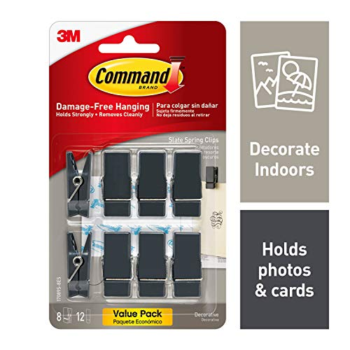Command Spring Clips, 8 clips, Decorate Damage-Free (17089S-8ES) (Picture Hanging Clips)