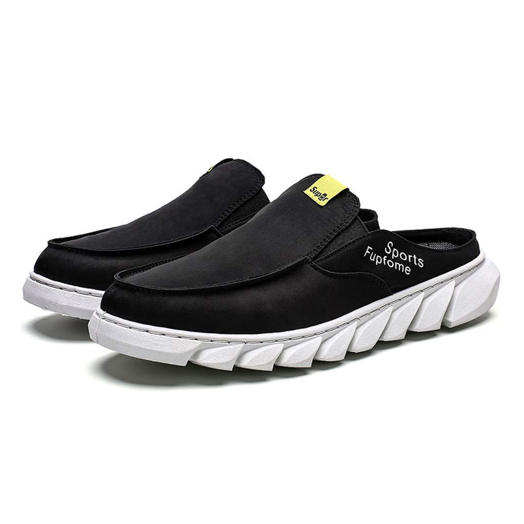 Slip On Sneakers for Men の Casual Sports Shoes Beach Sandles Flat Walking Shoes Slippers Black by Sameno Street Sneakers