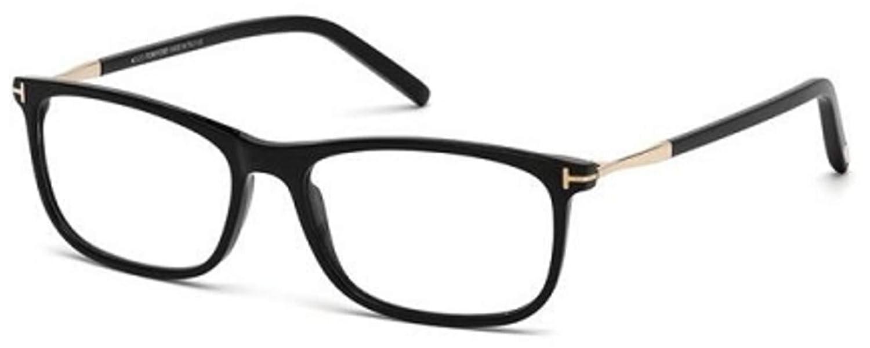 be12f8864422 Eyeglasses Tom Ford FT 5398 -F 001 shiny black at Amazon Men s Clothing  store