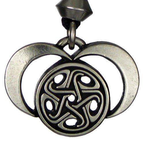 new Pewter Moons of Hecate Lunar Goddess Pendant Necklace
