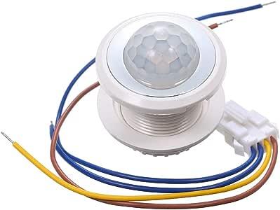 Lilideni AC100-265V 40W (máx.) Sensor de Movimiento Mini PIR adoptado Sensible Control de luz de 3 Niveles / 3 Niveles Ajustable Tiempo de retraso Infrarrojo Tecnología Humana para Accesorios de ilum: Amazon.es: