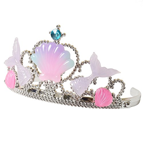 Mermaid Princess Headband Girls Crown Tiara Kids Party Supplies Pink Crystal