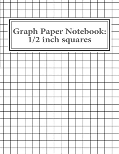 graph paper notebook 1 2 inch squares 100 pages reissa roni