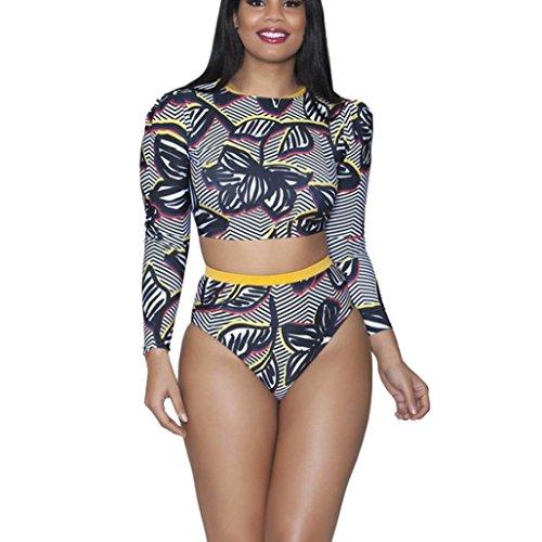 NewKelly Plus Size Women 2Pcs Swimsuit Push Up Bikini Swimwear Bathing Monokini (3 Piece Embroidered Pant Suit)