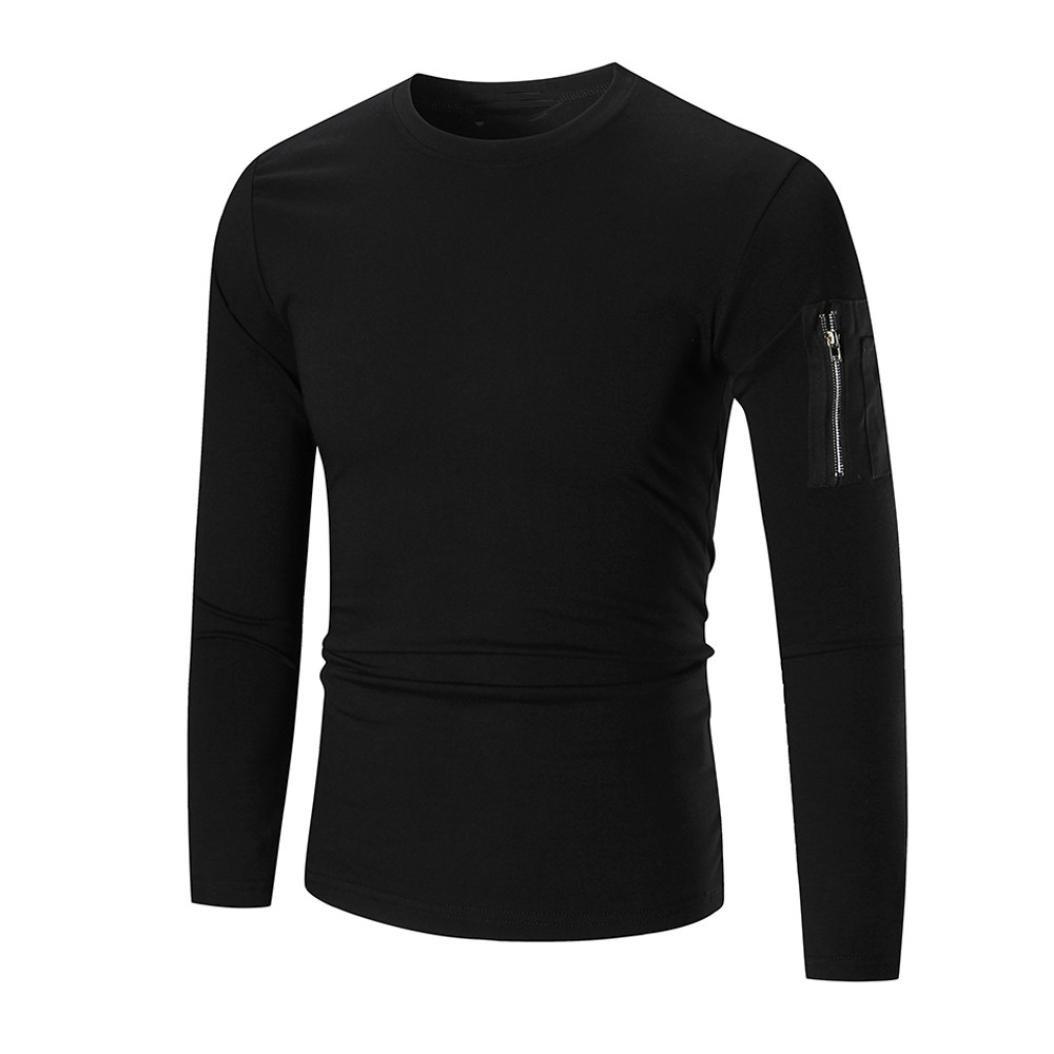Men Blouse,IEason 2017 Men's Long Sleeve Hoodie Hooded Sweatshirt Tops Jacket Coat Outwear (2XL, Black)