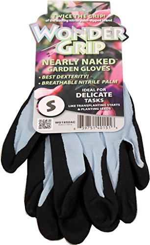 Wonder Grip Nearly Naked Assorted Colors Gloves, Small