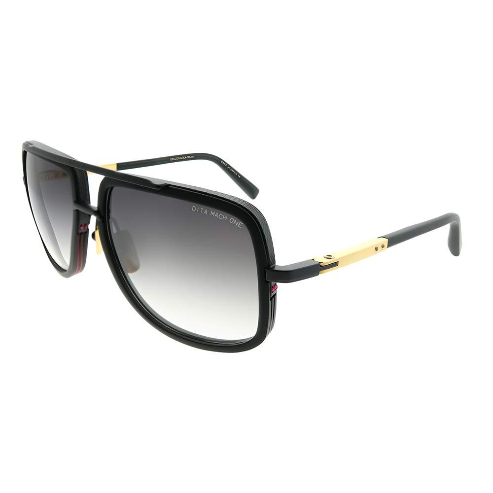 f62db8d945f3 Dita DRX-2030 G-BLK-18K Mach-One Matte Black Plastic Aviator Sunglasses Dark  Grey Gradient ...