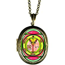 Solomons 4th Seal of Jupiter for Wealth & Honor Xl Locket Gold Bronze