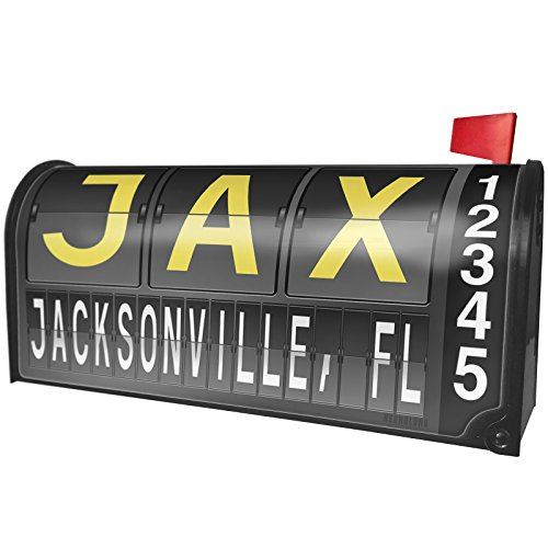 - NEONBLOND Jax Airport Code Jacksonville, FL Magnetic Mailbox Cover Custom Numbers
