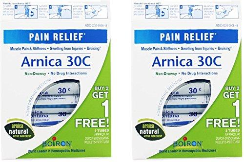 Arnica 30c Pellets (Boiron Arnica 30C Pellets (3 tubes per box) (Pack of 2))