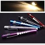 1 PCS Hot Diagnostic Medical Aid Pen Light Penlight Flashlight Pocket Torch With Scale