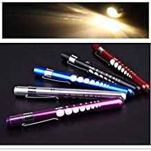 1 PCS Hot Diagnostic Medical Aid Pen Light Penlight Flashlight Pocket Torch With Scale
