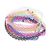 wsloftyGYd 12Pcs/Set Collar Jewelry Gift Women Fashion Hollow Rope Chokers Necklaces Decor Multicolor