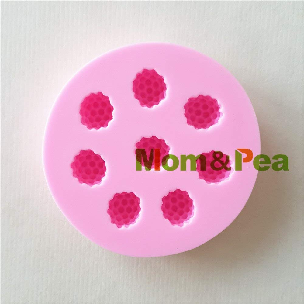 1 piece Mom&Pea 1393 Raspberry Silicone Mold cakethai Decoration Fondant cakethai 3D Mold Soap Mold Food Grade