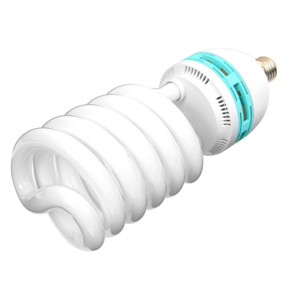 Casquillo E27 para iluminaci/ón de Estudio de fotograf/ía 5400 K Bombilla en Espiral compacta de bajo Consumo luz Diurna CFL 220 V 2 x 125 W