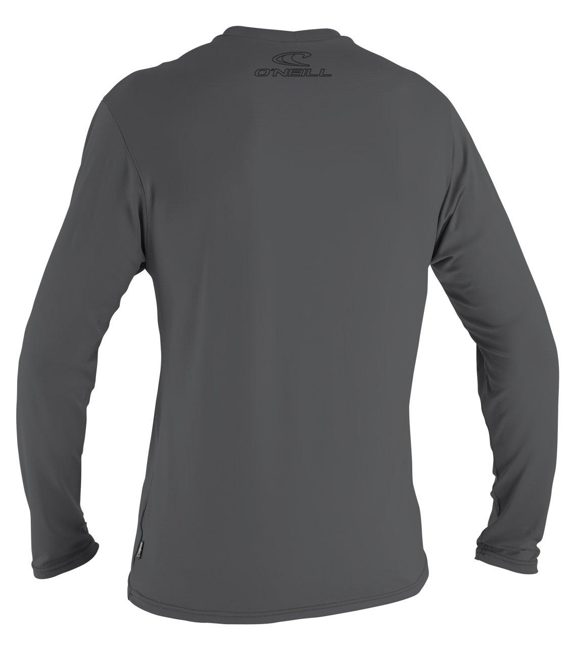 O'Neill Wetsuits Men's Basic Skins UPF 50+ Long Sleeve Sun Shirt, Smoke, Medium by O'Neill Wetsuits (Image #2)