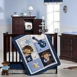Kids Line C614BED Carter's Crib Bedding Set, Monkey Rockstar, 4-Piece