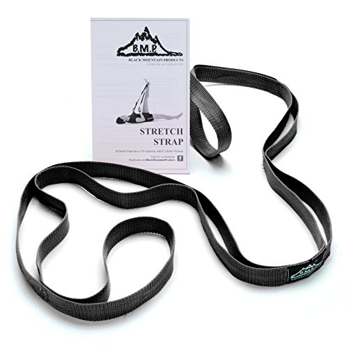Black Mountain Products Stretch Strap with Instructional Guide, Black
