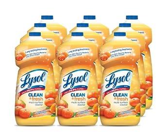 Lysol Clean & Fresh Multi-Surface Cleaner, Tangerine & Mango Essence, 40 oz, Case of 9