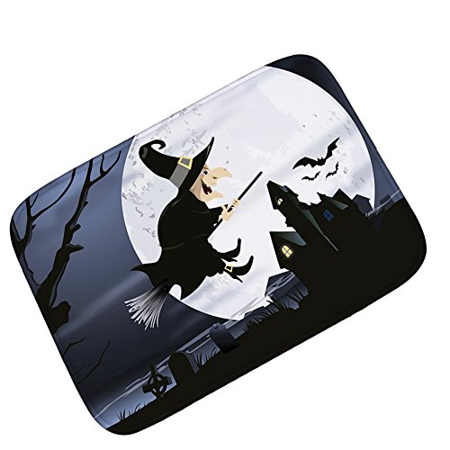 Carpet Mats Personality Flying Broom Witch Halloween Horror