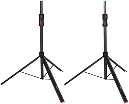 Gator Frameworks ID Series Speaker Stand Set with Padded Nylon Carry Bag;  Set of 10 Stands (GFW-ID-SPKRSET)