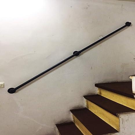 LNDDP Barandilla Seguridad - Kit Completo. Pasamanos Escalera para Interior y Exterior, barandilla barandilla Apoyo para Ancianos o niños Directo a Escalera, Hierro Forjado Negro: Amazon.es: Deportes y aire libre